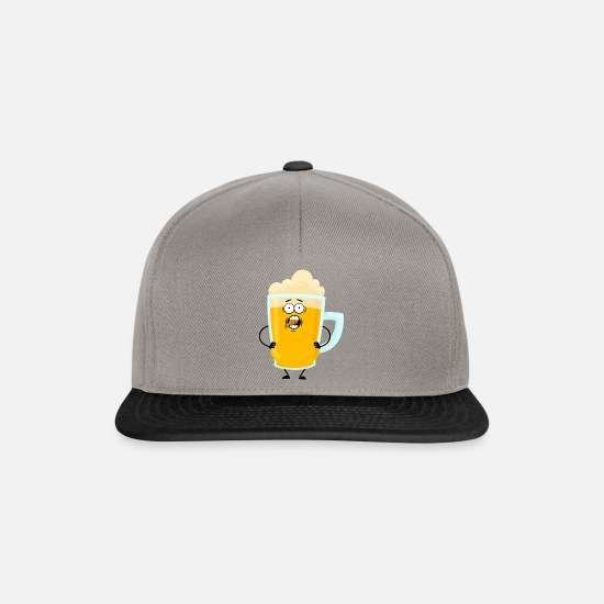 Alcohol Caps & Hats - beer belly - Snapback Cap graphite/black