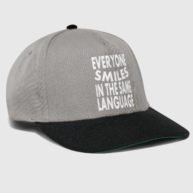 Smiles in the same language - Snapback Cap