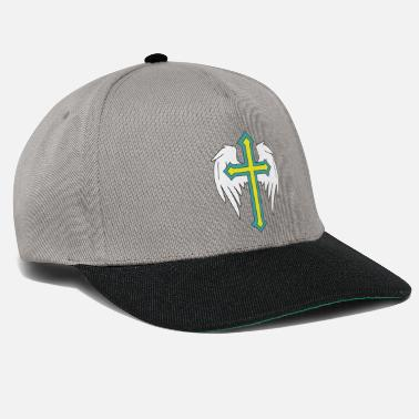 Fantasy Angel wings with cross drawing - Snapback Cap