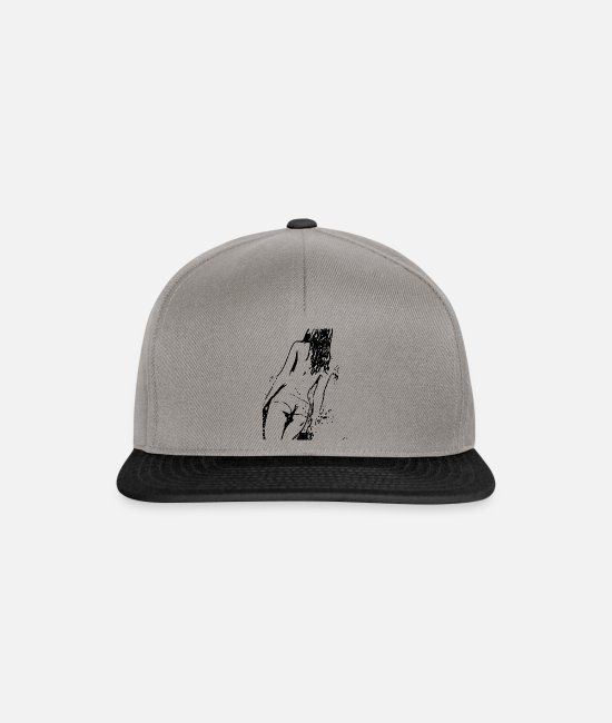 Image Caps & Hats - Sexy lady in erotic style - Snapback Cap graphite/black