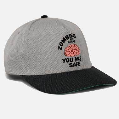 Murderer Zombies eat brains - you are safe - Snapback-lippis
