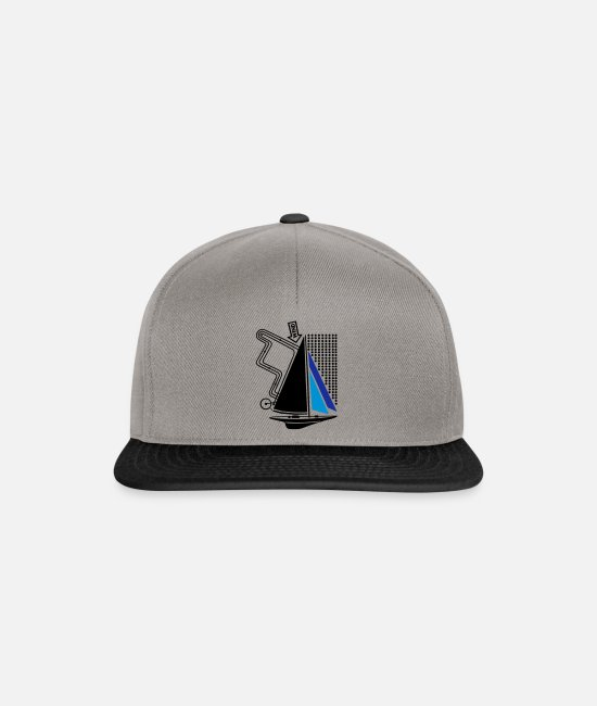Water Caps & Hats - technical sailing yacht no.1 the standard - Snapback Cap graphite/black
