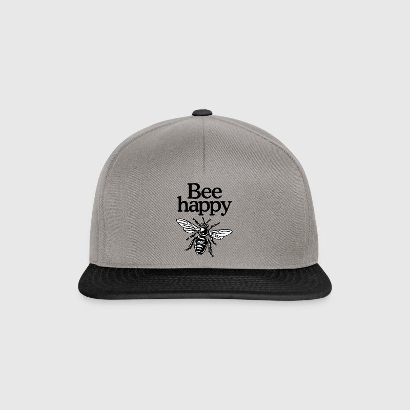 Bee Happy Beekeeper Quote Design (two-color) - Snapback Cap