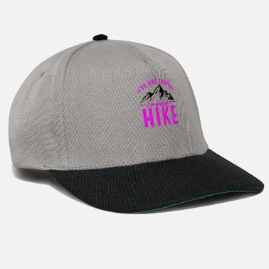Mountain It's enough I go hiking in winter - Snapback Cap