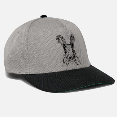 squirrel drawing - Snapback Cap