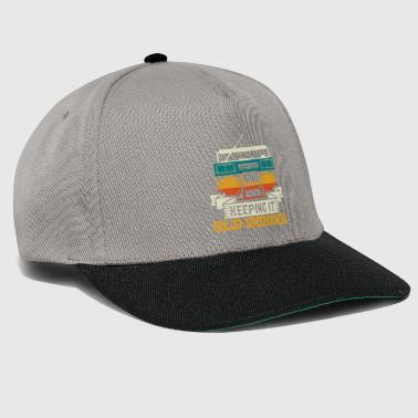 Ouderwetse Keeping It Old School Boombox Music Nostalgia Gift - Snapback cap