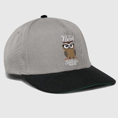 Smart Ass Nerd Owl Smarter Than You - Smarter Than You - Snapback Cap