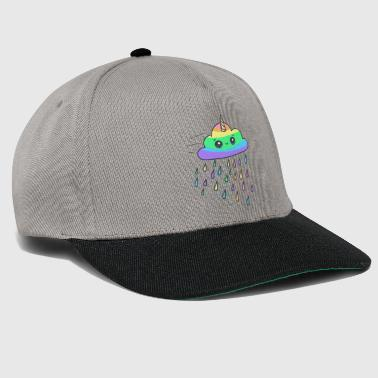 Otaku Kawaii unicorn cloud with rain - Snapback Cap
