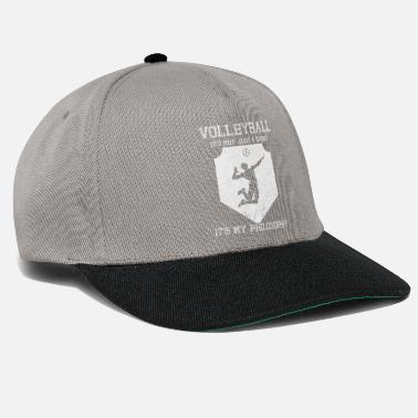 Philosophy Of Life Volleyball cram life philosophy - Snapback Cap