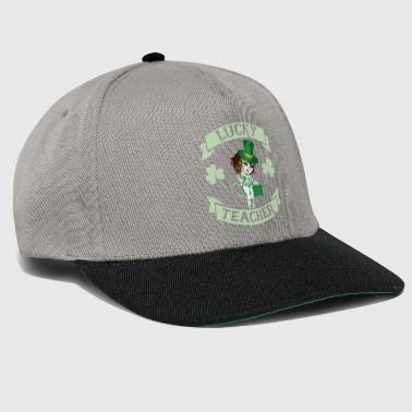 St Patricks Day Lucky Teacher St Patrick's Day Teaching Shamrock - Snapback Cap