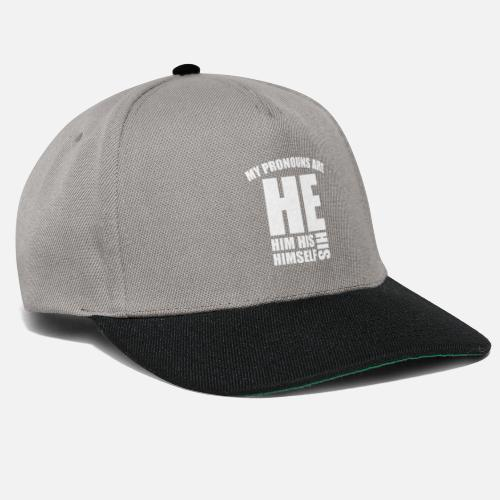 800a93ce8c7 Binary Caps   Hats - My Pronouns Are He Him Himself - Snapback Cap  graphite . Do you want to edit the design