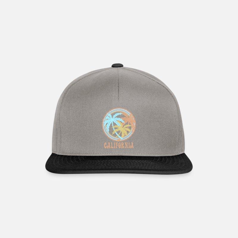 5fe8a250184c0 Palmeras Gorras y gorros - California - Gorra snapback gris grafito negro