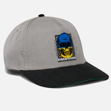 Kiev Ukrainian skull Kiev national colors gift - Snapback Cap