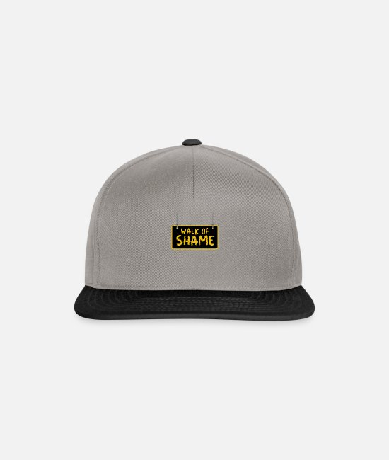 Meme Caps & Hats - Halloween Sexy Walk Of Shame Party Joke Gifts - Snapback Cap graphite/black