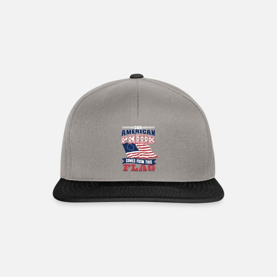 Proud Caps & Hats - Betsy Ross USA flag - Snapback Cap graphite/black