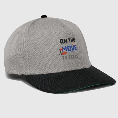 På farten til Texas Moving State & House Gift - Snapback Cap