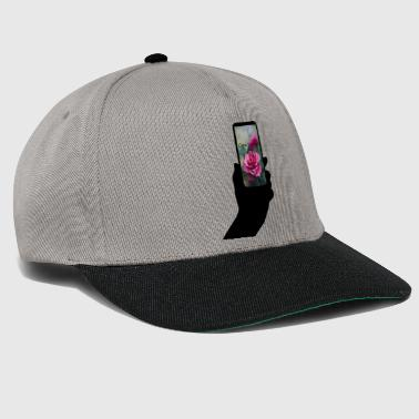 Mobile Phone Mobile phone with text - Snapback Cap