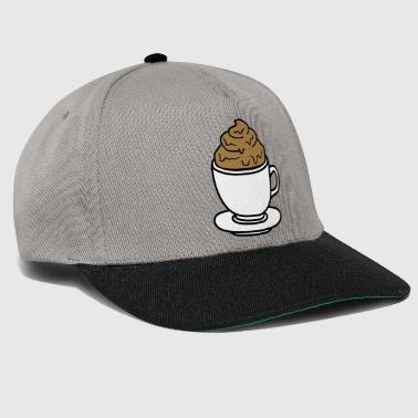 Pooping cup of coffee chocolate cocoa tea shit kot disgusting - Snapback Cap