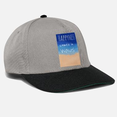 Happyness comes in waves - Snapback Cap