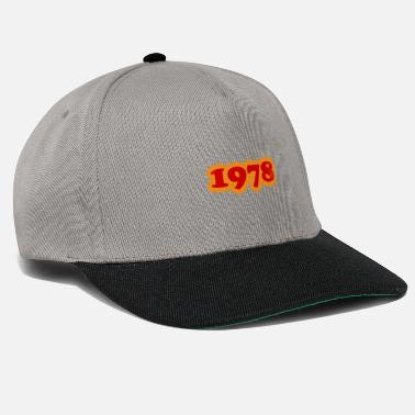 Old School 1978 red orange 70s - Cappello snapback