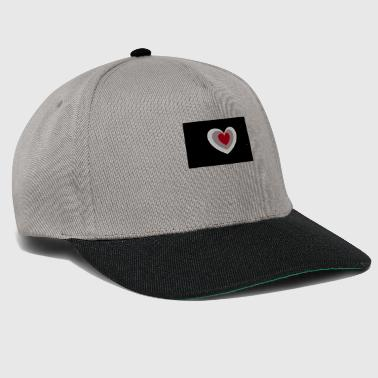 Heart black - Snapback Cap