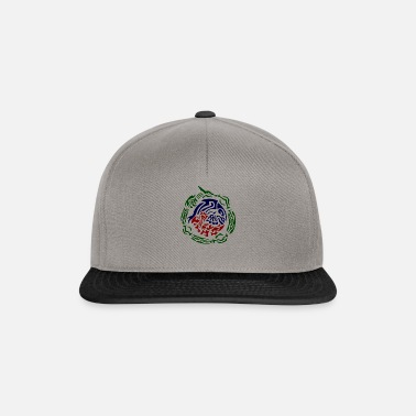 9c434d17250 rayquaza kyogre groudon tribal Snapback Cap