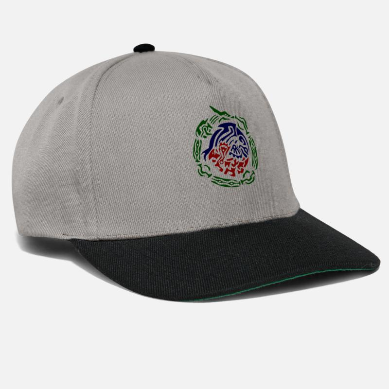 Tribal Tattoo Caps & Hats - rayquaza kyogre groudon tribal - Snapback Cap graphite/black