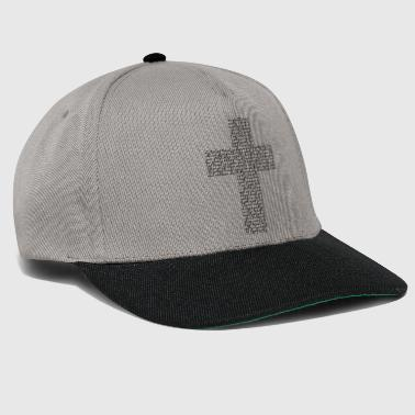 Cross from font (musta) - Snapback Cap