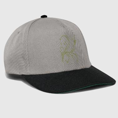 Abstraction motif abstrait vert - Casquette snapback