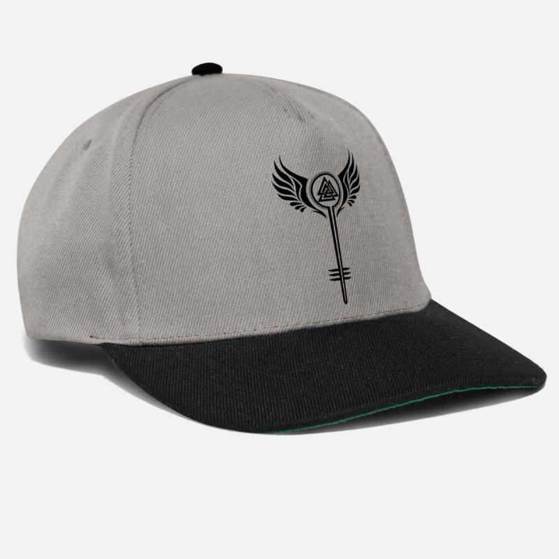 Valkyrie with Valknut Viking symbol Snapback Cap  8446382c3470