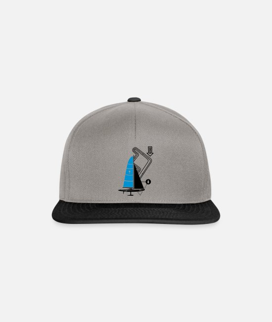 Water Caps & Hats - technical sailing yacht no.3 the sportive - Snapback Cap graphite/black