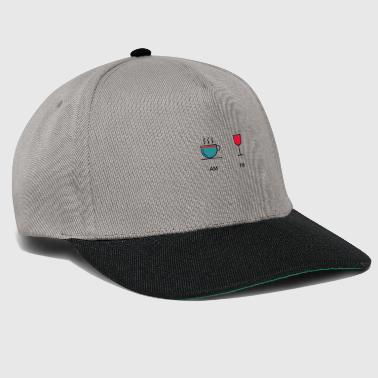 Coffee and Wine Am Pm - Snapback Cap