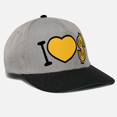 Liefhebben heart dollar i love love symbol sign money rich - Snapback cap
