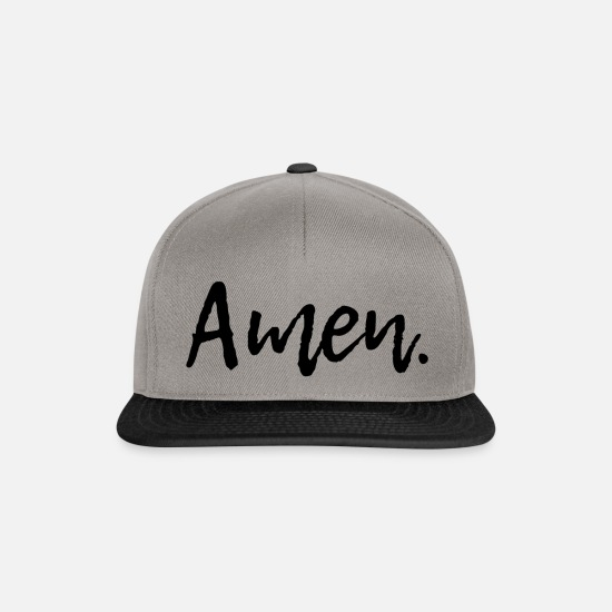 Religious Caps & Hats - Amen - Snapback Cap graphite/black