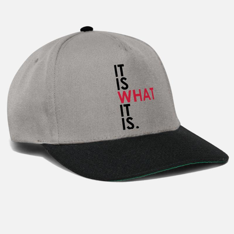 What Caps & Hats - It Is What It Is - Snapback Cap graphite/black
