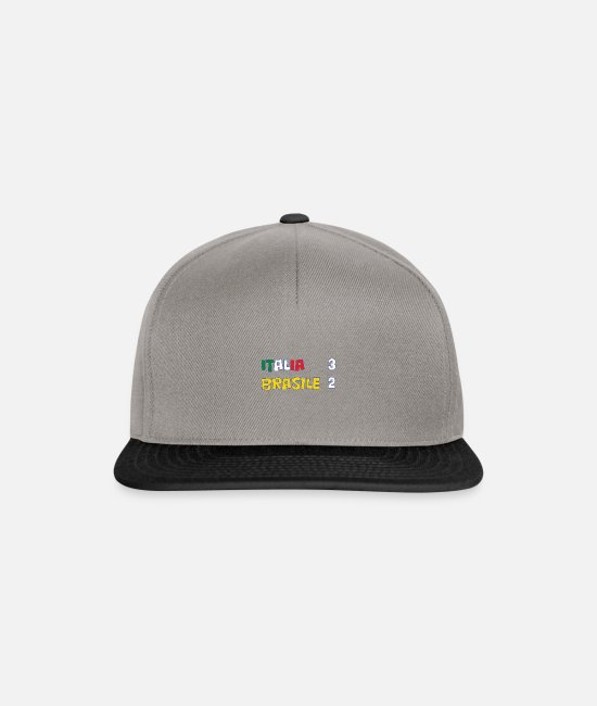 Red Caps & Hats - Italy-Brazil 1982 - Snapback Cap graphite/black