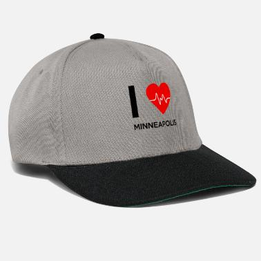 Minneapolis J'aime Minneapolis - I Love Minneapolis - Casquette snapback