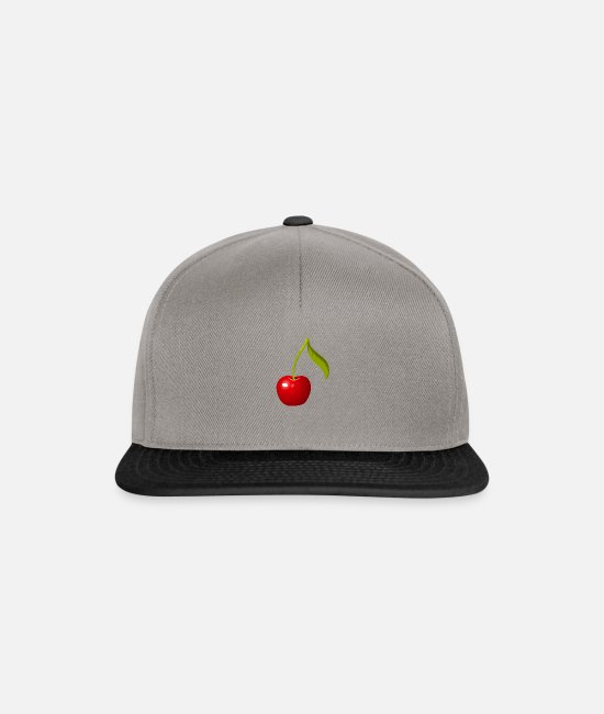 Cherry Caps & Hats - cherry - Snapback Cap graphite/black