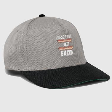 This dude loves bacon - Snapback Cap