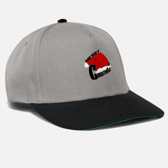 Mulled Wine Caps & Hats - Merry Christmas, Merry Christmas - Snapback Cap graphite/black