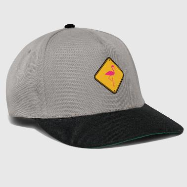 warning note caution caution shield danger fla - Snapback Cap