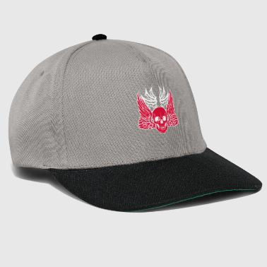 head of death skull skull wing wing fancy desi - Snapback Cap