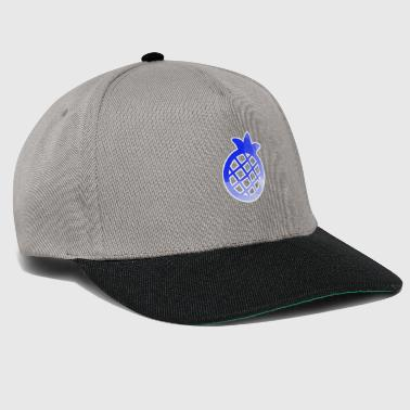 Blue Pineapple Pictogramm Stancel - Snapback Cap
