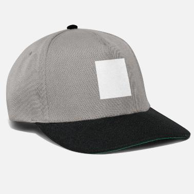 No No Need For A Logo - White Square - Snapback Cap