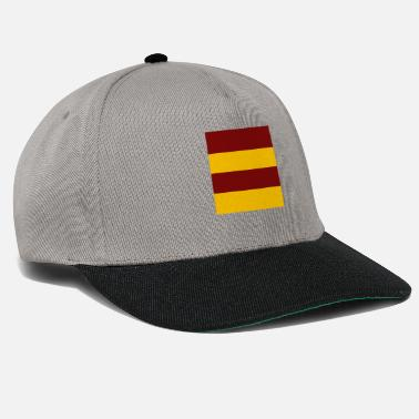 Red and Gold Stripes - Snapback Cap