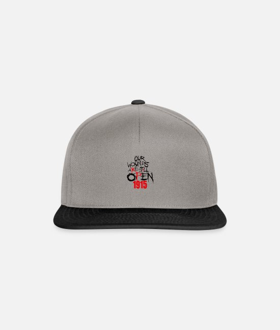 Armenia Caps & Hats - Our Wounds are still open 1915 Armenian - Snapback Cap graphite/black