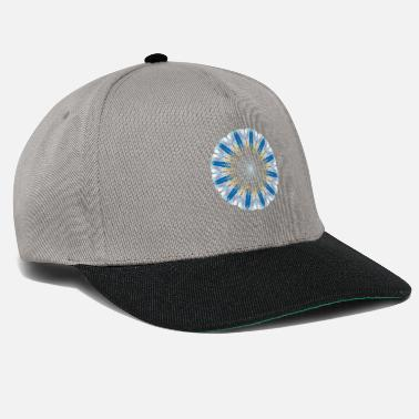 Mandala Blue White Yellow - Cappello snapback
