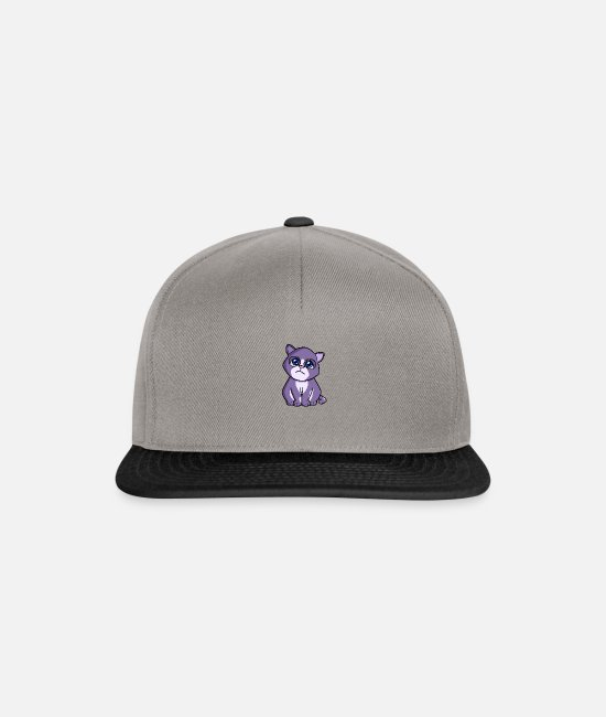 Caress Caps & Hats - Cat purple blue - Snapback Cap graphite/black