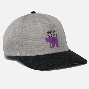 A purple elephant? Why not? - Snapback Cap