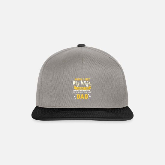 Love Caps & Hats - Dad Parents Father's Day Gift · My Love - Snapback Cap graphite/black